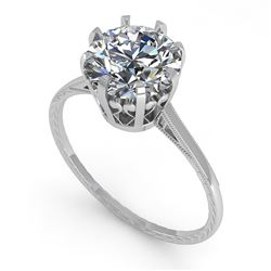 2.03 CTW Certified VS/SI Diamond Engagement Ring 18K White Gold - REF-947T4X - 35769