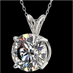 2.50 CTW Certified H-SI/I Quality Diamond Solitaire Necklace 10K White Gold - REF-834X2T - 33240