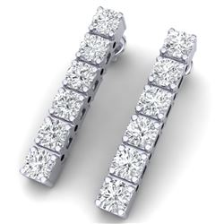 3 CTW Certified VS/SI Diamond Earrings 18K White Gold - REF-240M2F - 39911