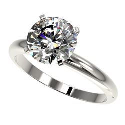 2.50 CTW Certified G-Si Quality Diamond Engagement Ring 10K White Gold - REF-837K6R - 32942