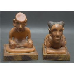 CHOCTAW POTTERY SCULPTURES (KANIATOBE)