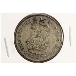 1929 GREAT BRITAIN SILVER SHILLING .0909 OZ. ASW