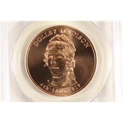 2007 DOLLEY MADISON BRONZE MEDAL PCGS MS69RD
