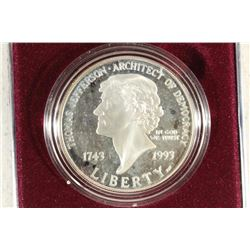 1993-S THOMAS JEFFERSON COMMEMORATIVE PROOF