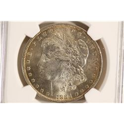 1884-O MORGAN SILVER DOLLAR NGC MS63+