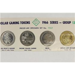 4-DOLLAR GAMING TOKENS 1966 SERIES-GROUP 13 (PFL)