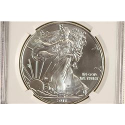 2011 (S) AMERICAN SILVER EAGLE NGC MS69 STRUCK