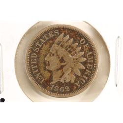 1862 INDIAN HEAD CENT