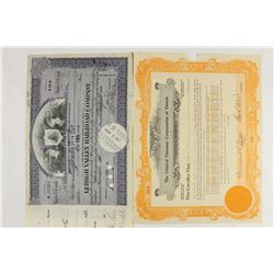 4 STOCK CERTIFICATE ITEMS SEE DESCRIPTION