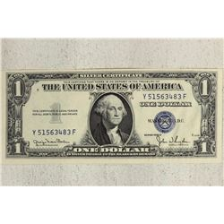 1935-D $1 SILVER CERTIFICATE CRISP UNC WITH WATER