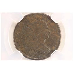1804 US HALF CENT NCS XF DETAILS LOOK THIS ONE UP