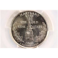 2000-D MARYLAND QUARTER PCGS MS66