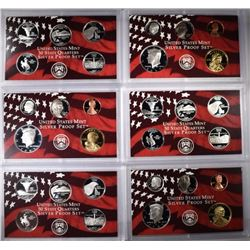 3-2007 SILVER PROOF SETS, MISSING THE PRES DOLLARS