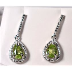 PERIDOT EARRINGS with DIAMOND ACCENTS