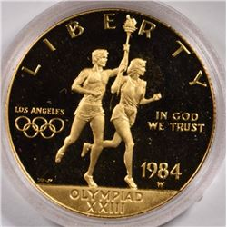 1984 OLYMPIC $10 GOLD PROOF