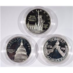 3 - SILVER U.S. MINT COMMEM DOLLARS