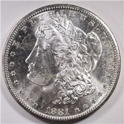 1881-S CH BU MORGAN DOLLAR FLASHY!