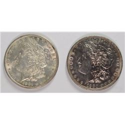 1880-O & 1891 MORGAN DOLLARS AU/BU