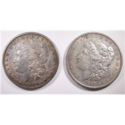 1885 & 1904 MORGAN DOLLARS XF/AU