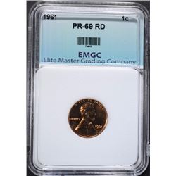1961 LINCOLN CENT EMGC SUPERB GEM PLUS PF RD