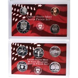 1999 U.S. SILVER PROOF SET BOX/COA