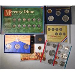 MERCURY DIME SET (12), 3 - WALKING LIB 50c
