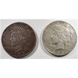 2pc   1935-P PEACE DOLLARS  NICE