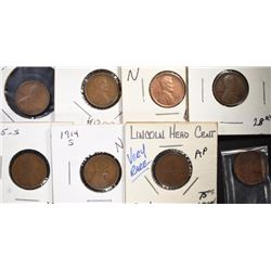 LINCOLN CENTS NICE CIRCS; 1914-S, 1915-S,