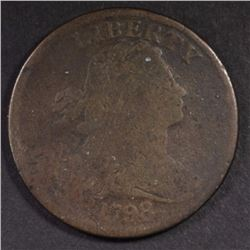 1798 DRAPED BUST LARGE CENT GOOD+