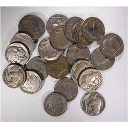 22 - EARLY DATE BUFFALO NICKELS; 2-1915,