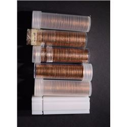 BU LINCOLN CENT ROLLS: 2-1955-S 2-57-D & 2-58