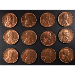 12 - BU 1930-S LINCOLN CENTS