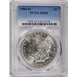 1904-O MORGAN DOLLAR PCGS MS65