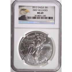 2012 AMERICAN SILVER EAGLE NGC MS 69