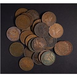 26 CANADA LARGE CENTS VARIOUS DATES & GRADES