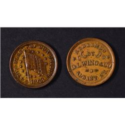 2-DIFFERENT CIVIL WAR STORE CARD TOKENS