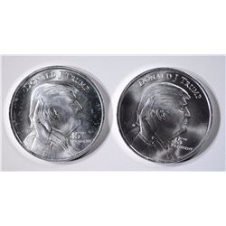 2-DONALD TRUMP ONE OUNCE .999 SILVER ROUNDS