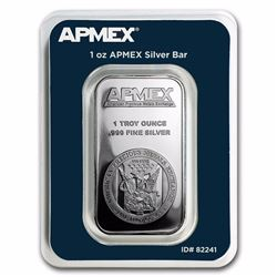1 Ounce APMEX 999 Silver Bar in MintDirect Assay