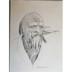 Dagon (2001) Paco Rabal Makeup Original Previous Concept Art #1