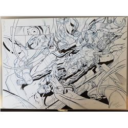 Deus Ex Original Art, Comic Book #2 Page 4 INK
