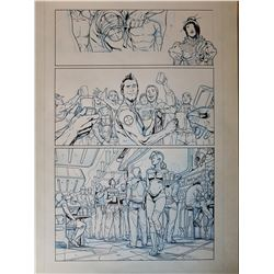 Deus Ex Original Art, Comic Book #2 Page 8 INK