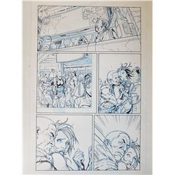 Deus Ex Original Art, Comic Book #2 Page 9 INK