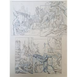 Deus Ex Original Art, Comic Book #3 Page 8 Pencil