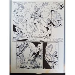 Deus Ex Original Art, Comic Book #3 Page 21 INK