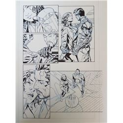 Deus Ex Original Art, Comic Book #4 Page 6 INK