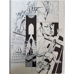 Deus Ex Original Art, Comic Book #5 Page  1 INK