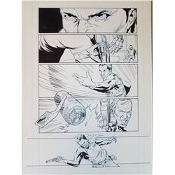 Deus Ex Original Art, Comic Book #5 Page  2 INK