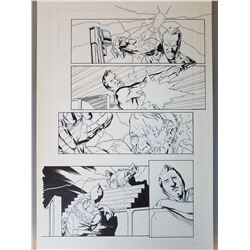 Deus Ex Original Art, Comic Book #5 Page  3 INK