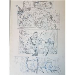 Uncharted 3 Original Art, Comic Book #1 Page 6