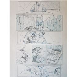 Uncharted 3 Original Art, Comic Book #1 Page 17